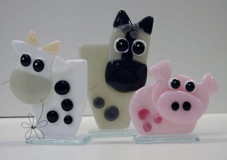 ko, hest og gris små