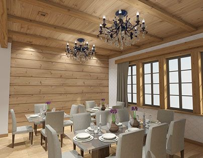 "Check out new work on my @Behance portfolio: ""Chalet restaurant"" http://on.be.net/1OavAmu"