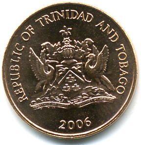 1 Cent  #Trinidad&Tobago - 1976-2012 Raffigura un colibrì,l'uccello più piccolo del mondo:peso 2,5 grammi.