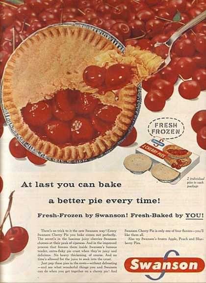 Swanson's Frozen Cherry Pies (1957)