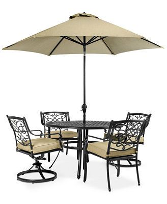 wentley patio furniture outdoor 5 piece set 2 dining chairs 2 swivel chairs