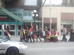 Free Tibet Protests taking storm in downtown Ottawa. Check it out!