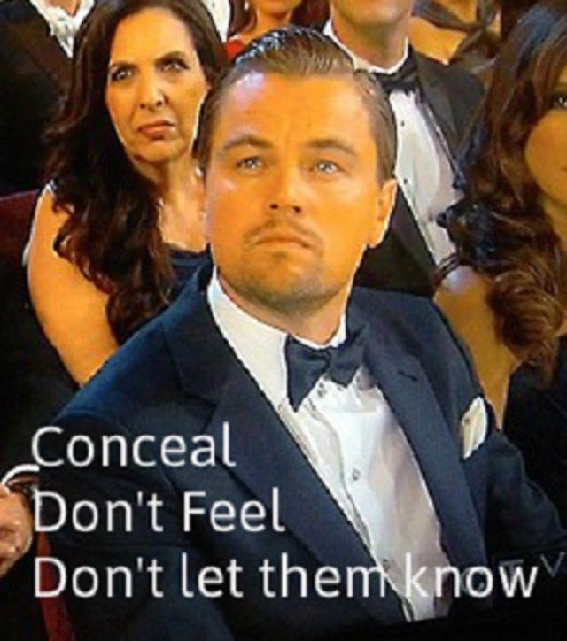 Cruel or not, I cannot stop laughing.  --> Leonardo DiCaprio Oscar memes.