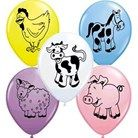 11in Balloon Latex Farm Animals 50 Per Bag - PartyMad