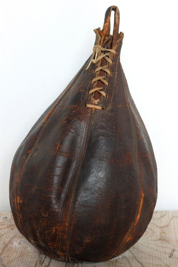 A pretty cool vintage dark brown leather speedball! Great display piece or collectible