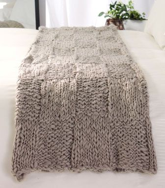 checkerboard pattern - chunky blanket