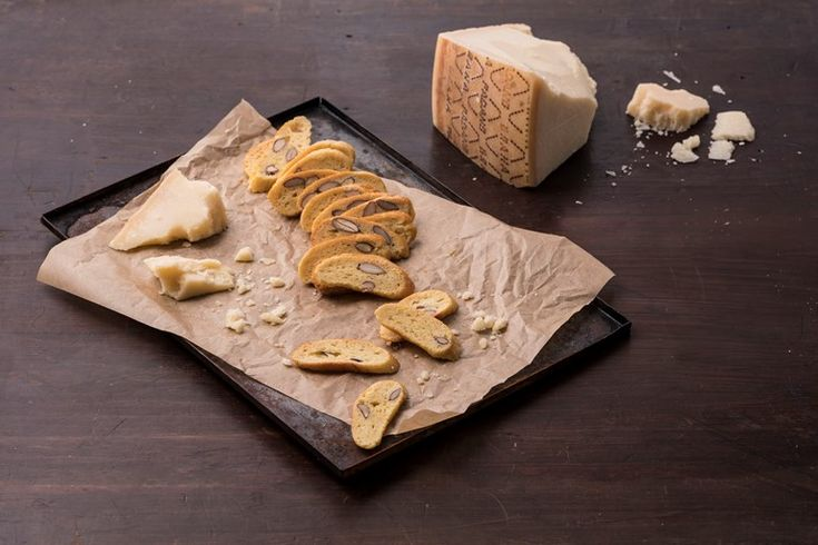 Valeria Necchio's savoury biscotti recipe is flavoured with Grana Padano cheese and salted almonds for a bit of crunch.
