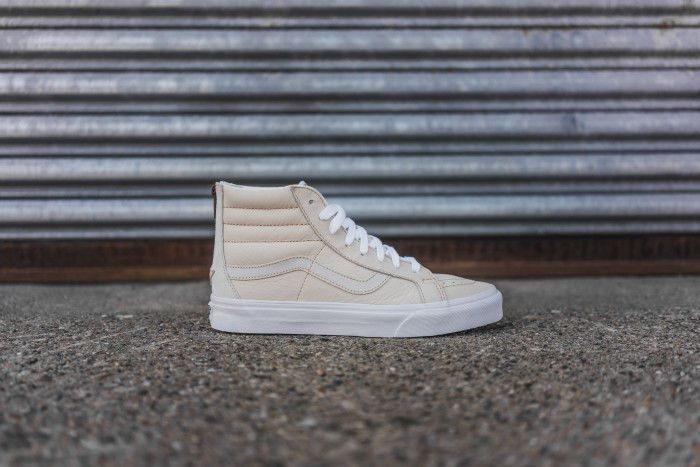 f093583c2a10c1 Vans sk8-hi reissue zip premium leather white sand sz us m 10 us w 11.5 uk 9
