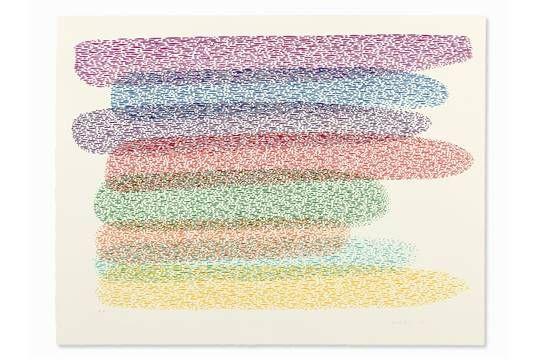 Lot 50 - Piero Dorazio (1927-2005), Color Lithograph, Malonas, 1976  Lithograph in colors on wove paper