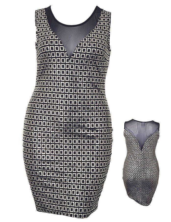 Silver Square Evening dress
