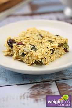 No Bake Oat Slice Recipe. #WeightLossRecipe #DietRecipe weightloss.com.au