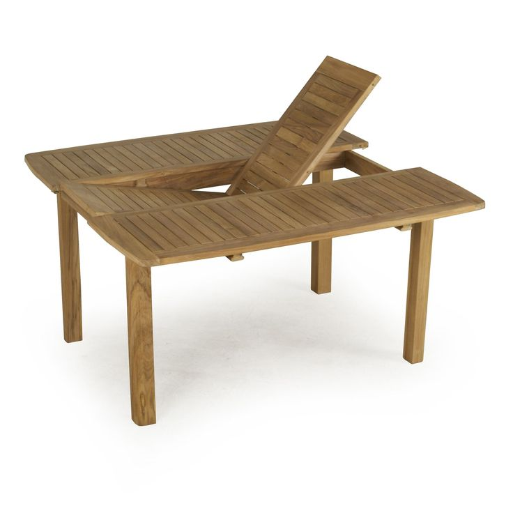 Table rectangulaire avec rallonge papillon atrium for Table de jardin modulable
