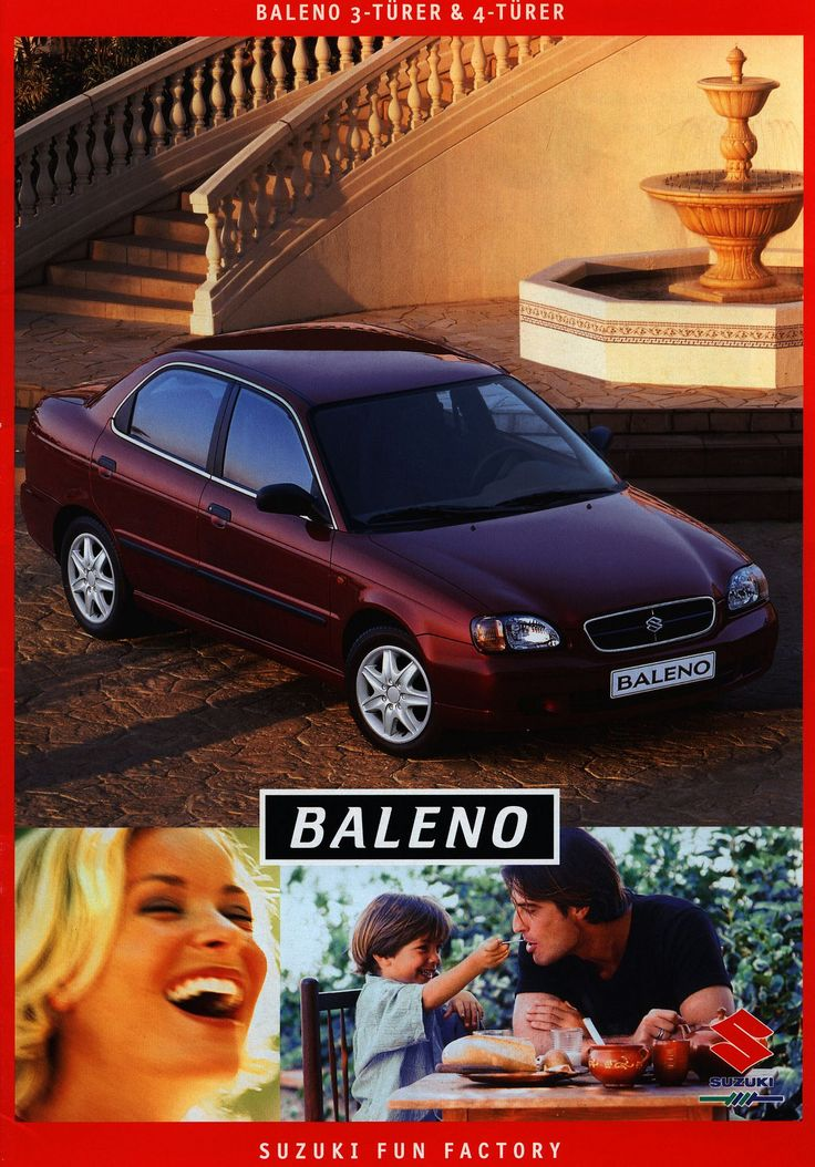 https://flic.kr/p/Fwusu5 | Suzuki Baleno 3-Türer & 4-Türer; 1999_1 | front cover car brochure | by worldtravellib World Travel library - The Collection