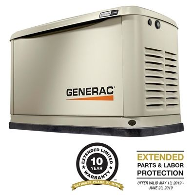 Generac Generator 70311 Guardian Series 11 10kw Air Cooled Standby With Wi Fi Transfer Switch Wifi Protecting Your Home