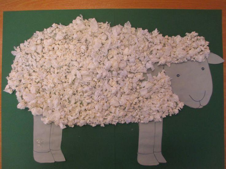 Schaf aus papier basteln basteln mit kindern pinterest - Pinterest basteln mit papier ...