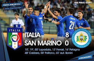 Milan finisher Gianluca Lapadula was at his peak as Azzuriz destroys San Marino in a friendly match on wednesday in Empoli.    Juventu...