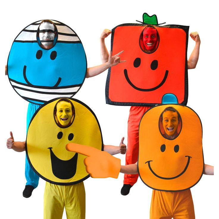 These Mr Men costumes could be easily DIYed!
