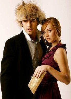 Amber Marshall and Graham Wardle - What's with that thing on his head!? Haha! :P