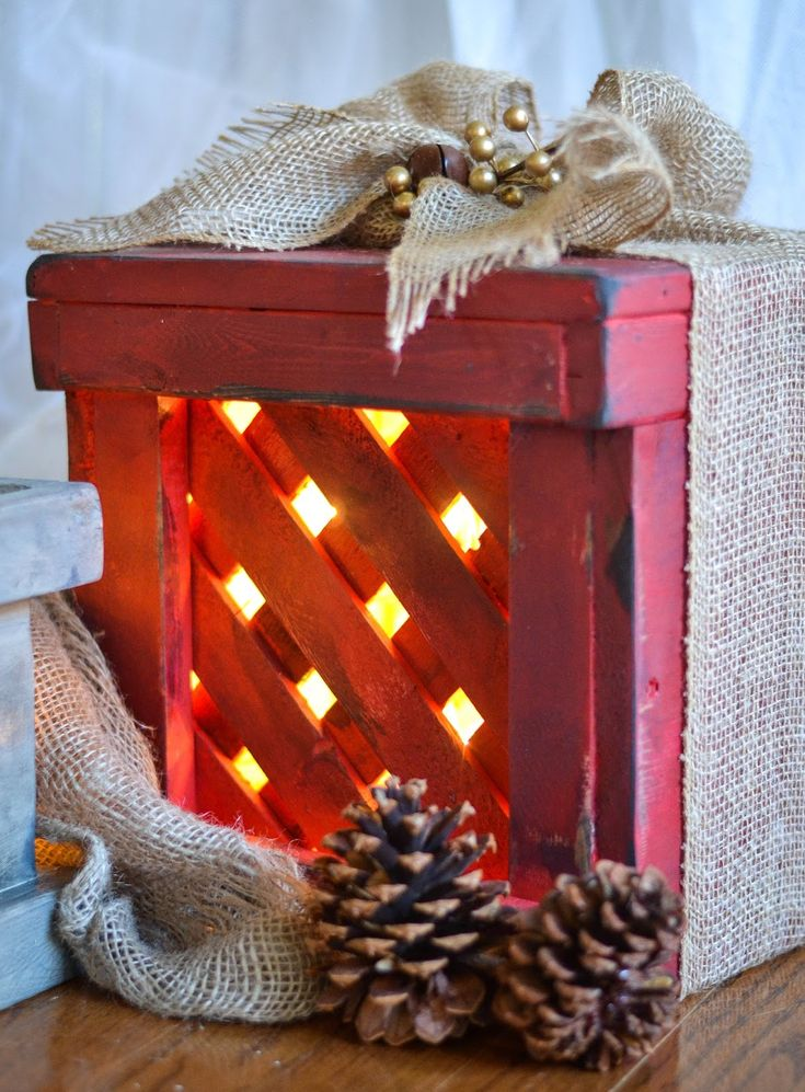 Make Wooden Presents for the Porch - I used wooden lattice, furring strips  and pine wood to make. Find this Pin and more on Outdoor Christmas  Decorations ...