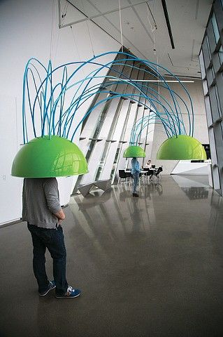 Conversation Domes. Sound Installation at the Broad Art Museum.
