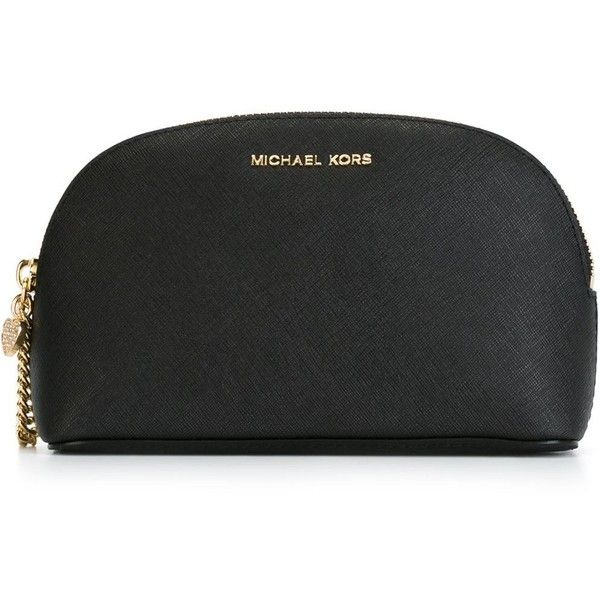 Michael Michael Kors Alex Make-Up Bag found on Polyvore featuring beauty products, beauty accessories, bags & cases, black, make up bag, travel bag, travel kit, toiletry bag and make up purse
