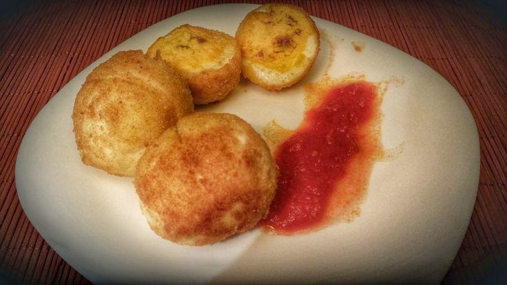 Recetas de puño y letra: Huevos rellenos rebozados
