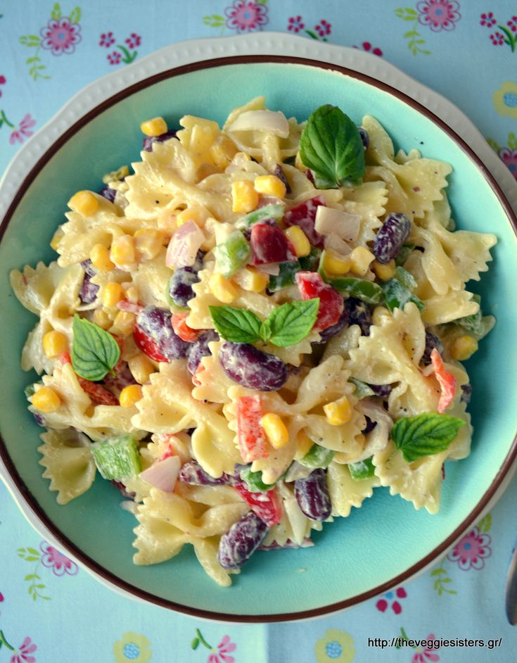 Veggie pasta salad with vegan homemade mayo: a filling and mouthwatering dish!