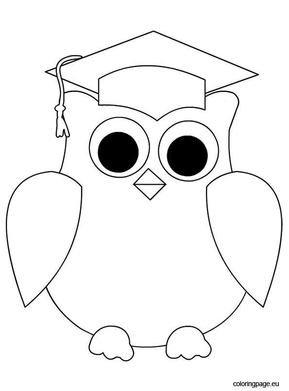 Owl Graduation | Coloring Page | Education | Pinterest ...