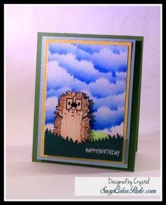 Hedge Hogtastic stamp set  #joyclair