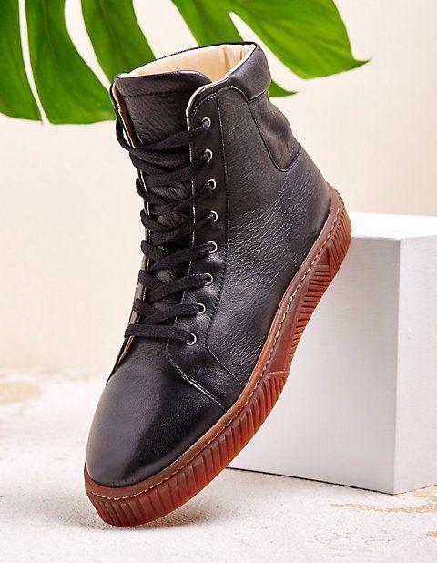 Hot Soles Sneaker High Damen Schwarz Schuhe Modischen