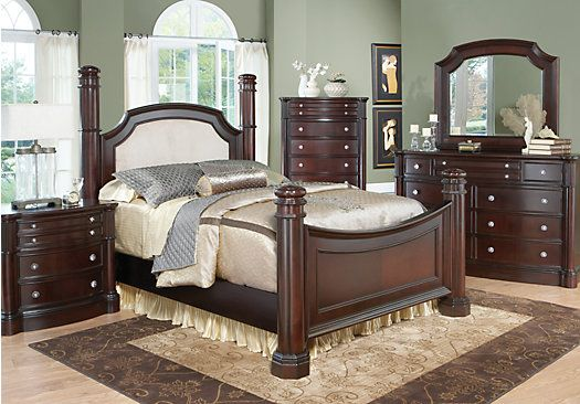 Shop for a dumont low poster 7 pc king bedroom at rooms to - The room place bedroom furniture ...