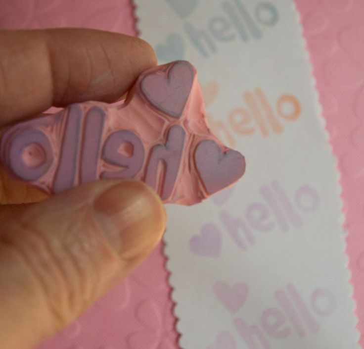 Hello with Hearts Stamp