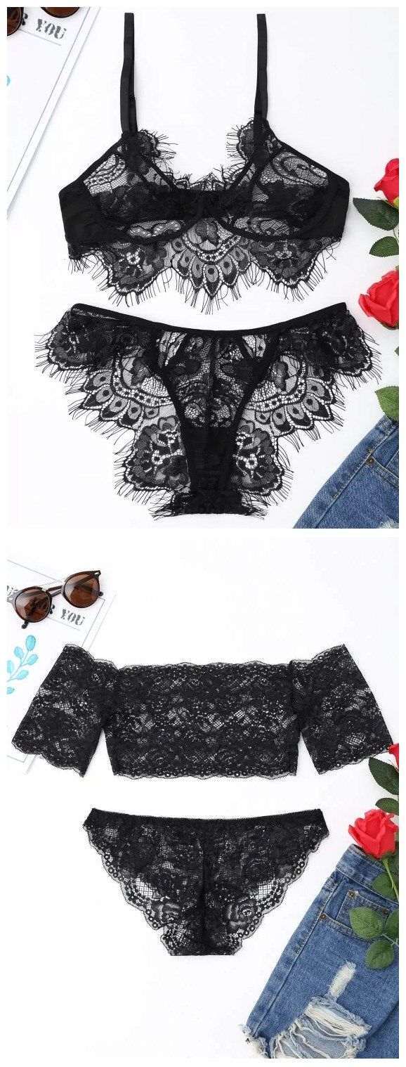 Up to 80% OFF! Eyelash Lace Bralette Set #Zaful #intimates zaful,zaful outfits,lingerie,intimates,underwear,under clothes,under clothing,undies,bra,victoria secret,lingerie seductive,ingerie setl,ingeries,lingerie classy,intimates apparel,intimates photography,bralette,bralette outfit,panties,bodysuit,thong,corset,bikini, babydoll,lacebra,slips,garter,clubwear,pushupbra, garterbelt,nighty, sheer,girdle,undergarment,suspenders,satinpanties,pajamas @zaful Extra 10% OFF Code:ZF2017