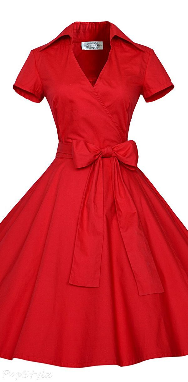 9476e87e562 Maggie Tang Vintage 50s 60s Rockabilly Swing Dress