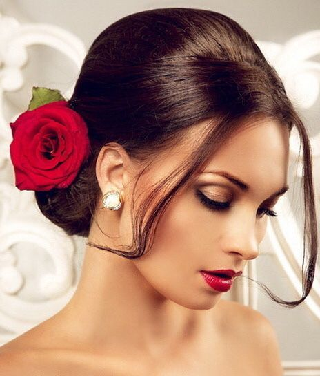 Bridal Hairstyle With Rose : Best 25 mexican hairstyles ideas on pinterest makeup
