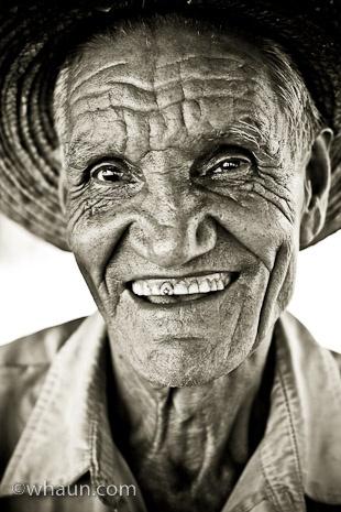 I love head shots of older people