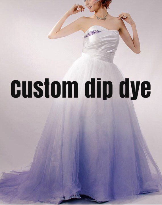 706fb7db22 Add Dip Dye to any Staysi Lee Wedding Gown - Colored Wedding Dress Pink,  Blue, Green, Yellow, Orange