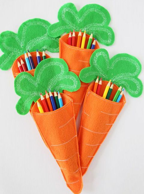 Carrot Pencil Holder. Great idea for kids! #handmade #art #design