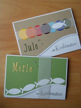 Konfirmationskarten - Stempelklecks - Stempeln, Stanzen und Basteln -