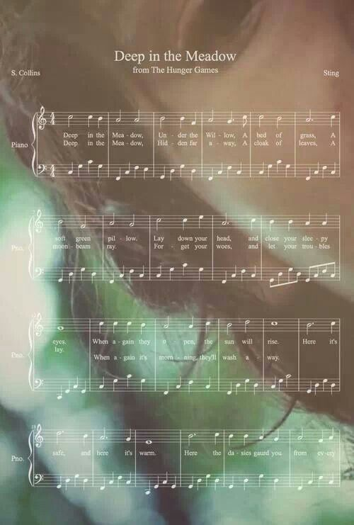 Deep in the Meadow sheet music - Hunger Games