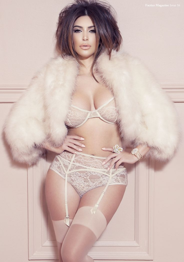 Kim Kardashian Flaunts Curves in Lacy Lingerie for 'Factice' Magazine