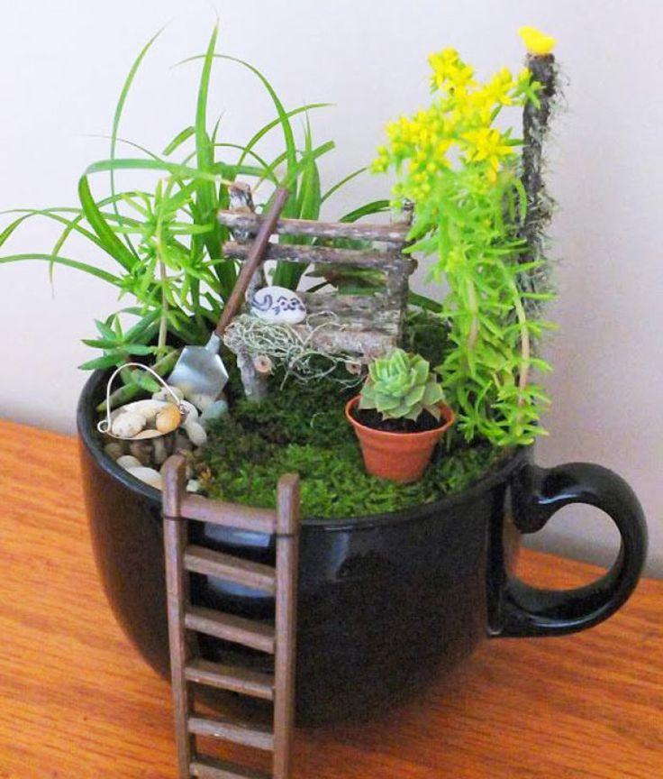 ideias jardins moradias1000 ideias sobre Jardins De Fadas De Interior