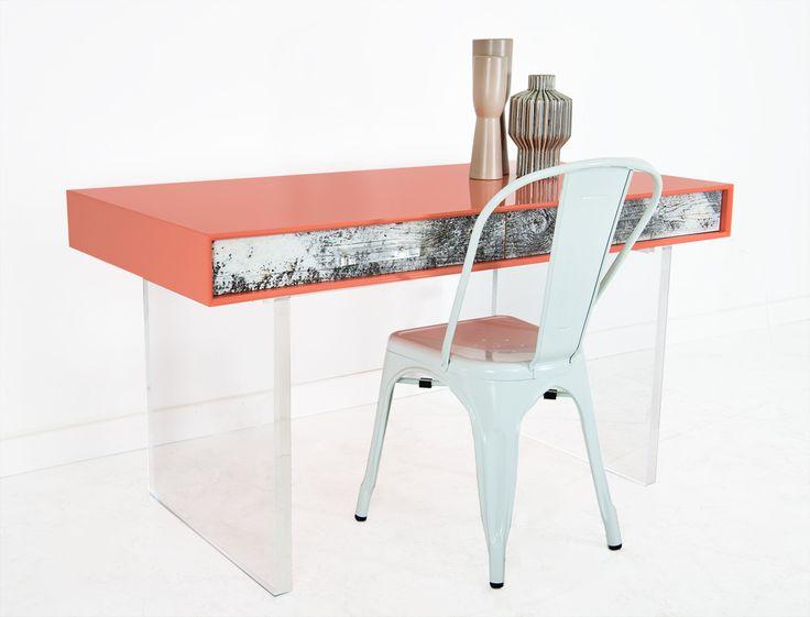 cody desk in coral