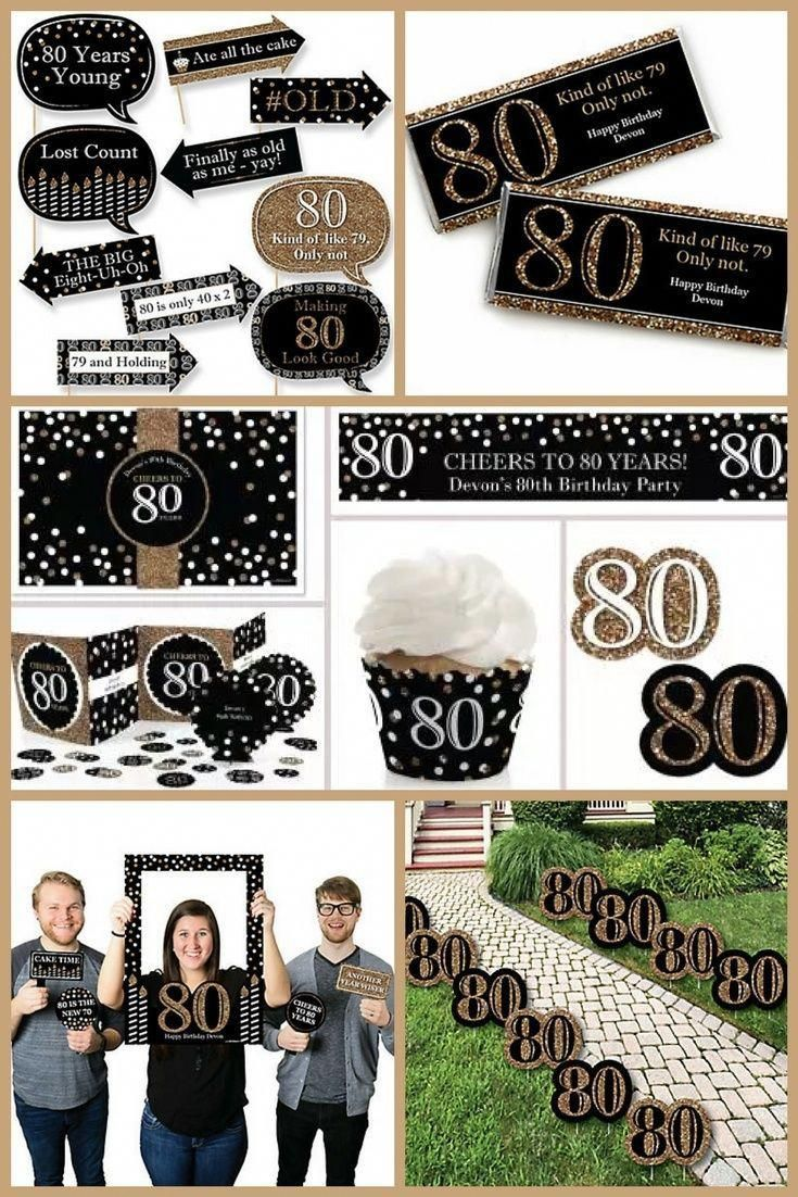 80th Birthday Party Ideas Festive Black And Gold 80th Birthday