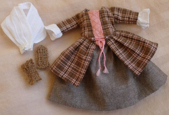 A Wee Scottish Outlander Outfit for Hitty Dolls by by Islecroft