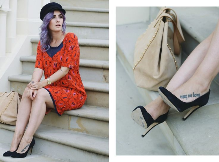 Blutgeschwister Flapper Girl Dress, 20er Jahre Kleid, Knallrot, Vintage Schiffer Mütze, Fashion Blog, Like A Riot, Summer Outfit, Summer Style, Summer Look, Blogger Style