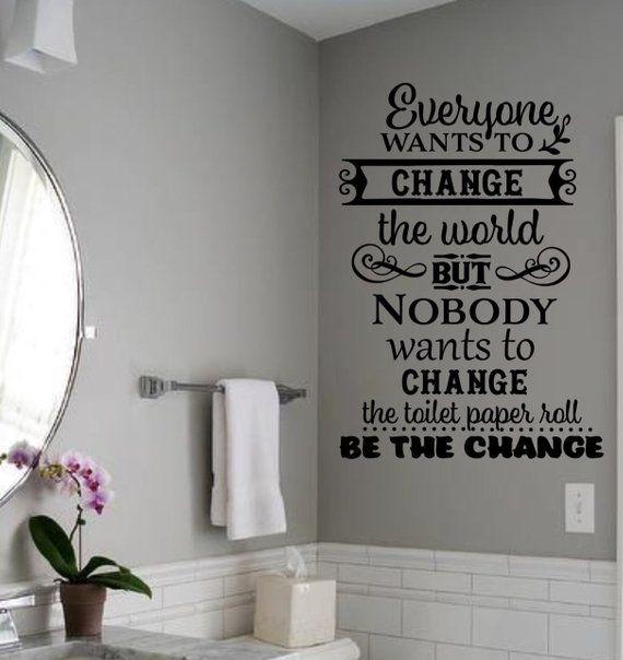Bathroom Decal Funny Decal Bathroom Rules Vinyl Wall Decal