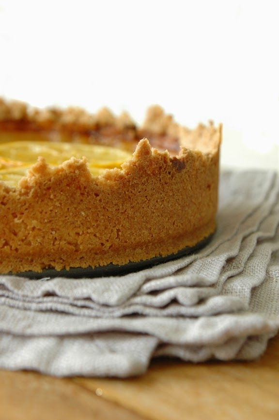 ... lemon and honey tart with salted shortbread crust - click photo for