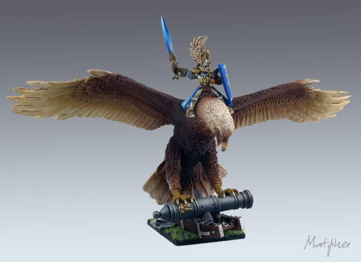 High Elf Highborn on Eagle #whfb #warhammer #fantasy #battle #aos #ageofsigmar #sigmar #gw #gamesworkshop #wellofeternity #miniatures #wargaming #hobby #elves #elf #eagle
