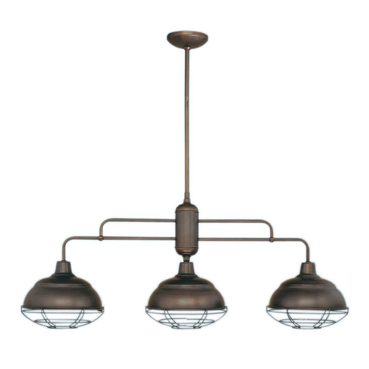 Millennium Lighting Neo-Industrial 41-In W 3-Light Rubbed Bronze Kitchen Island Light With Shade 5313-Rbz. Pool Table ...  sc 1 st  Pinterest & 17 best Lighting images on Pinterest   Linear chandelier Bronze ... azcodes.com
